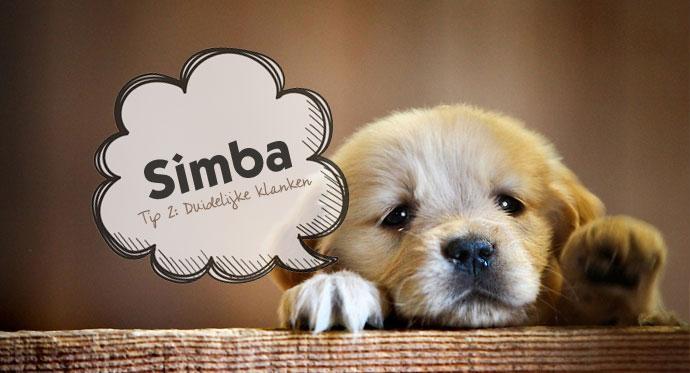 Tip 2: Duidelijke klanten voor de hondennaam